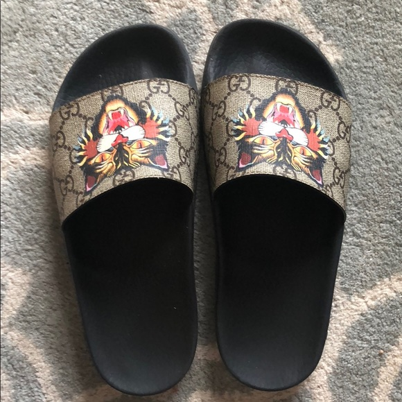 046702f491f Gucci Shoes - Gucci flat pool slides sandals size 6 1 2